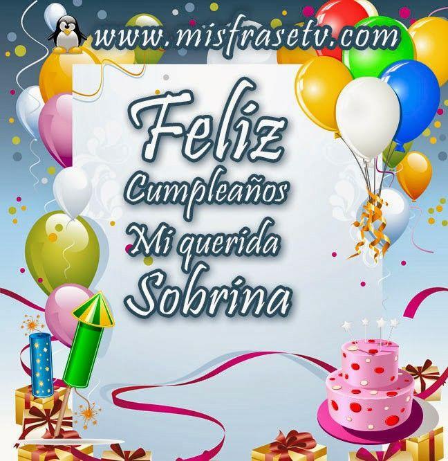 Feliz cumple querida sobrina tqm 😉 poemas d cumpleaños para mis sobrinos Pinterest