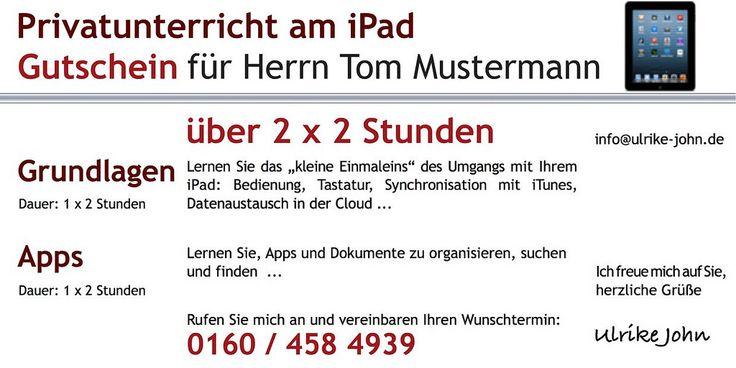 https://flic.kr/p/BUdbqc | Gutschein iPad iPhone Unterricht