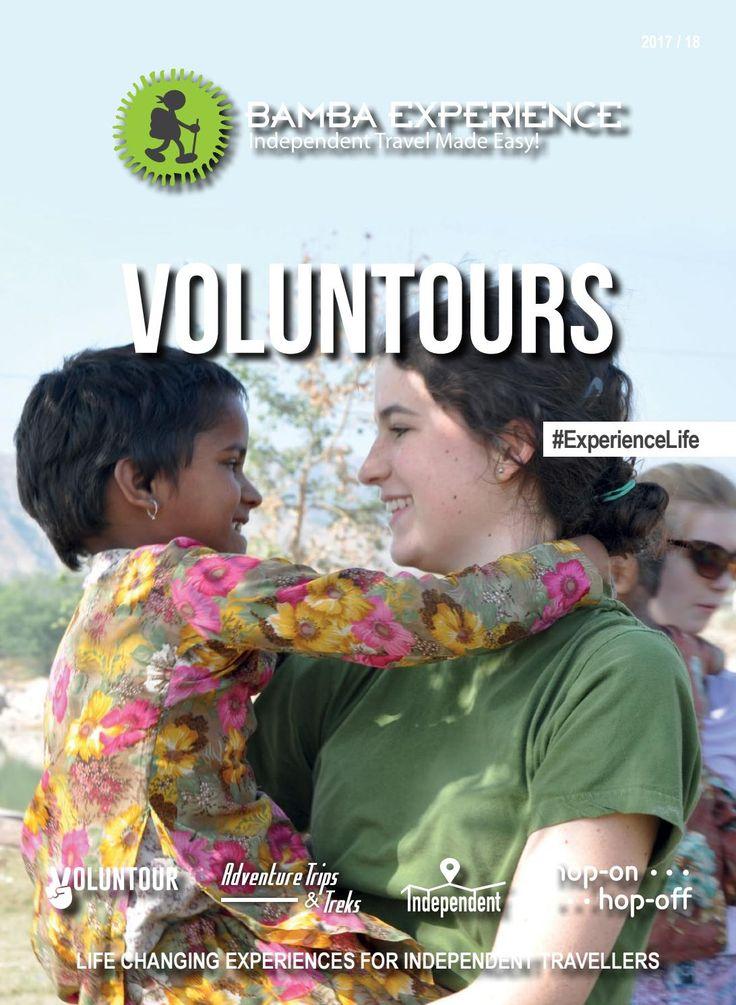 Bamba Voluntours Brochure. Travel and Volunteering combined! #Brochure #BambaExperience #ExperienceLife  #Travel #Voluntours #Volunteer