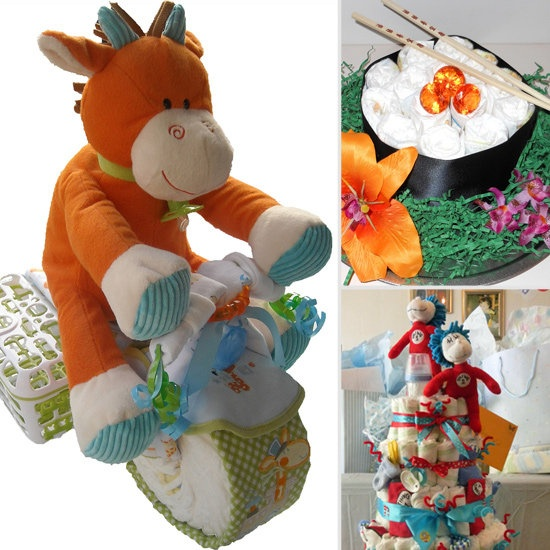 Diaper cakes!: Baby Showers Gifts, Baby Idea, Baby Gifts, Baby Showers Diapers, Cute Kids, Showers Idea, Diapers Cakes, Gifts Idea, Showers Cakes