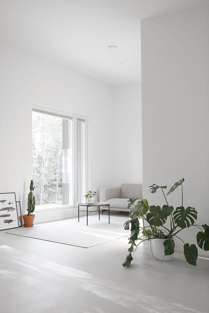 Simples Minialistisches Wohnzimmer