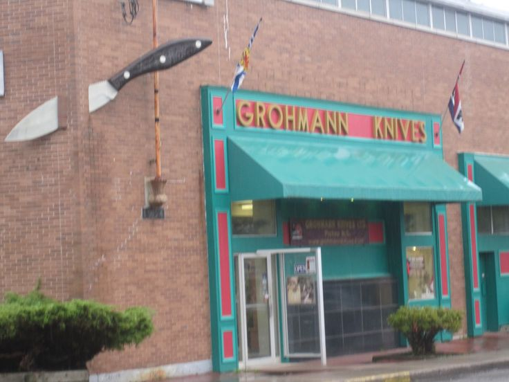 Grohmann Knives Factory in Pictou, NS