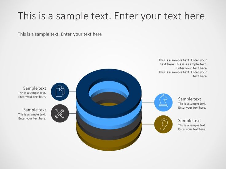 3d circular stack powerpoint diagram has 4 levels this