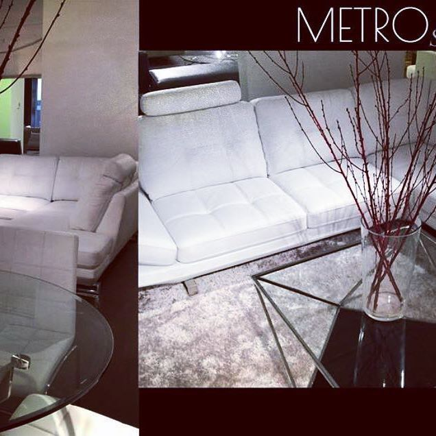 Classic Clean Lines Of The Metro Sofa #sofa #fancy #leather #coffeetable #
