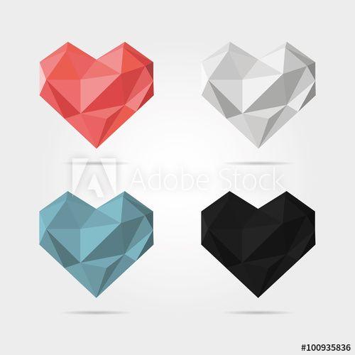 Polygonal Hearts in Vector
