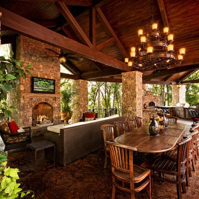 tv above fireplacehouzz covered outdoor room design ideas
