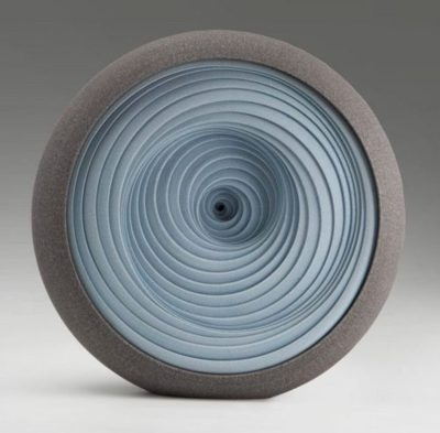 """Ceramic Sculpture """" Blue Spiral"""" by Matthew Chambers #Beautiful pottery clay"""
