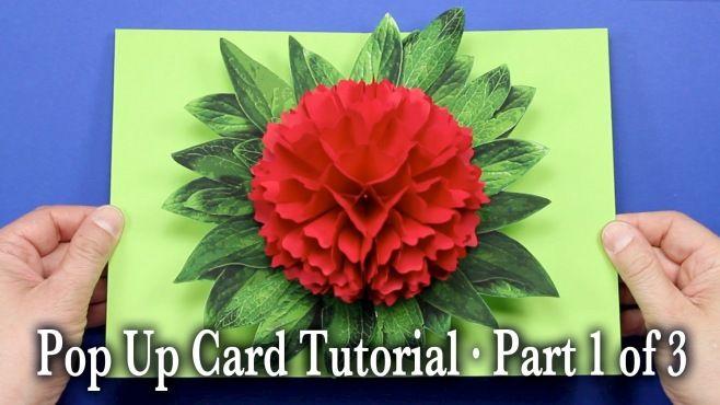 3D Kağıt Çiçekli Kart Yapımı Bölüm 1 - 3D kağıt sanatı - teknikleri, örnekleri ve ipuçlarını videolu anlatımı. Kart yapımı