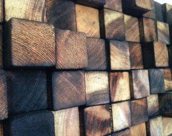 En bois Art Wall Sculpture  bois récupéré  Sculpture par WallWooden