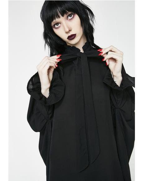 998c3bcbd89ba8 Thebe Chiffon Blouse  dollskill  blackout  allblack  laceup  corset  pvc   vinyl  newarrivals