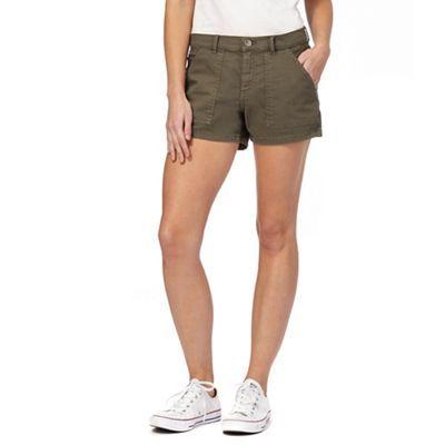 Red Herring Khaki denim shorts | Debenhams