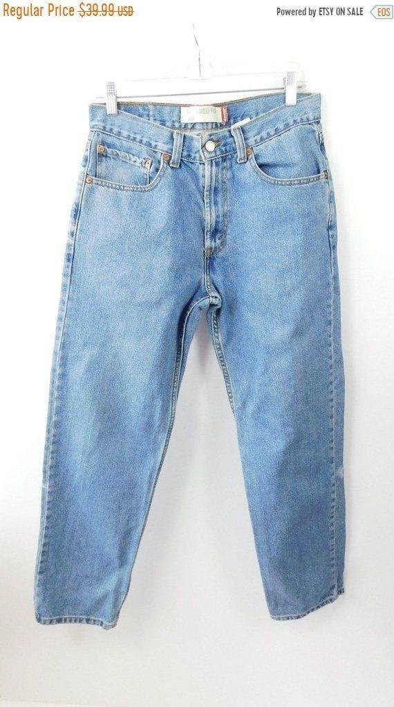 d17c49194cb6f0 35% BLOWOUT SALE Mens Vintage 80s 1980s Levis Original 550 Relaxed Fit  Straight Leg Button Fly Light Blue Denim Jean Pants Sz 32 x 32 by  WearingMeOutVtg on ...