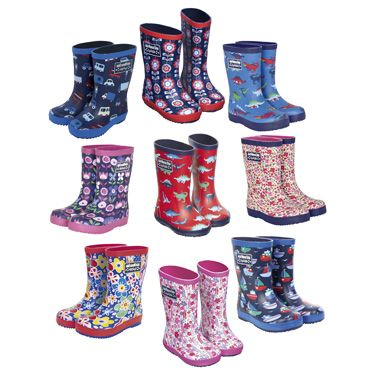 Patterned Childrens Wellies, Rainwear, Snow Boots and Wellies, Girls and Boys