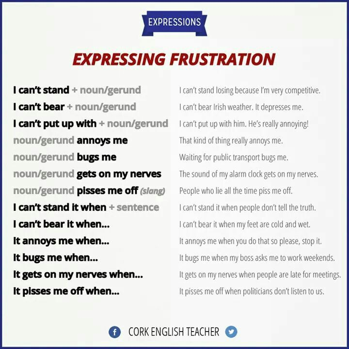 Expressing Frustration - Useful Expressions from Cork English Teacher