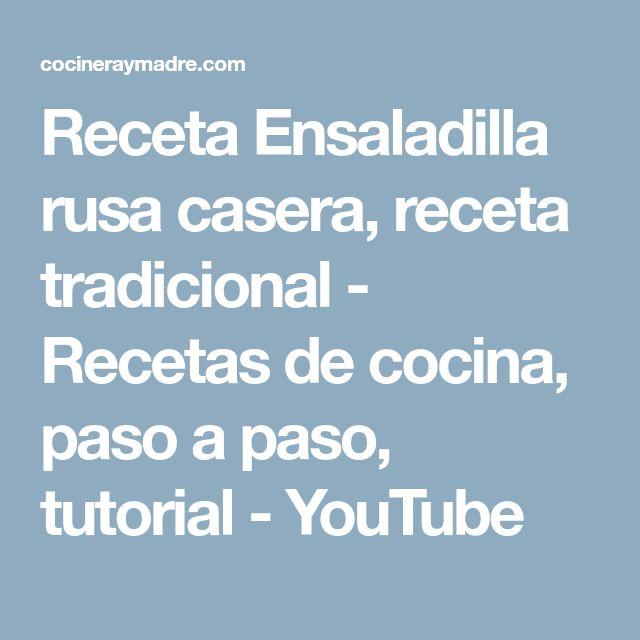 Receta Ensaladilla rusa casera, receta tradicional - Recetas de cocina, paso a paso, tutorial - YouTube