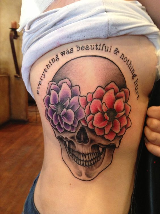 Explore Canvas Tattoo Flower Skull Tattoos and more!