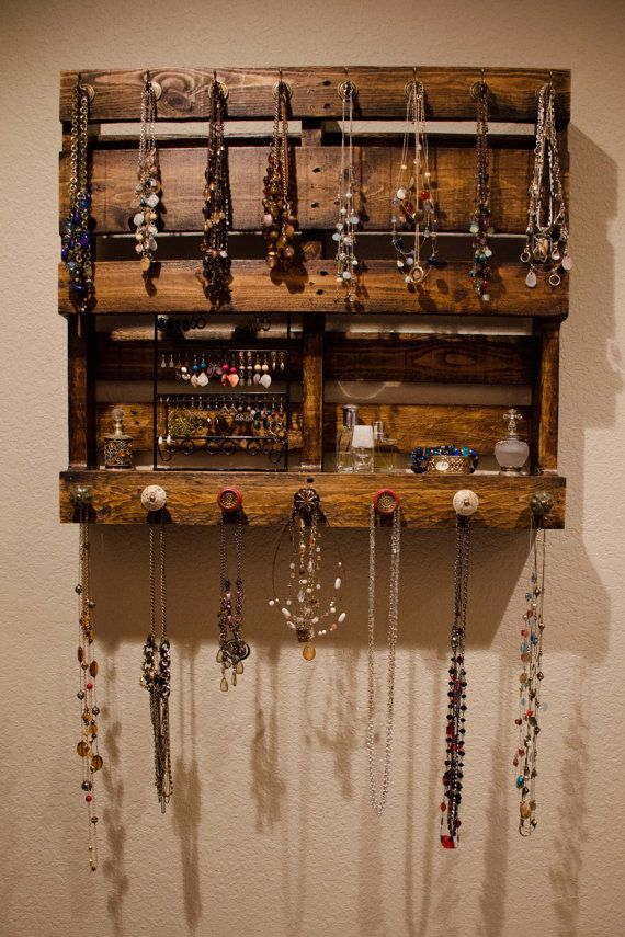 Pallet Jewelry Organizer by SonRiseCrafting31 on Etsy