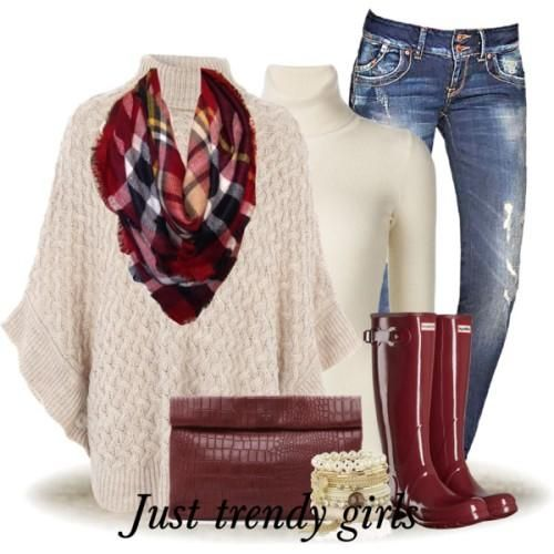 cape poncho with scarf outfit, Style Inspiration Winter Outfits http://www.justtrendygirls.com/style-inspiration-winter-outfits/