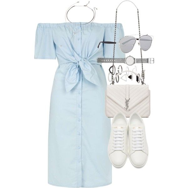 Outfit for summer with a denim dress