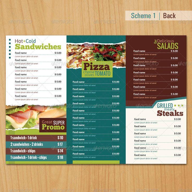 66 best Restaurant Food Menu Graphic Designs images on Pinterest - drinks menu template