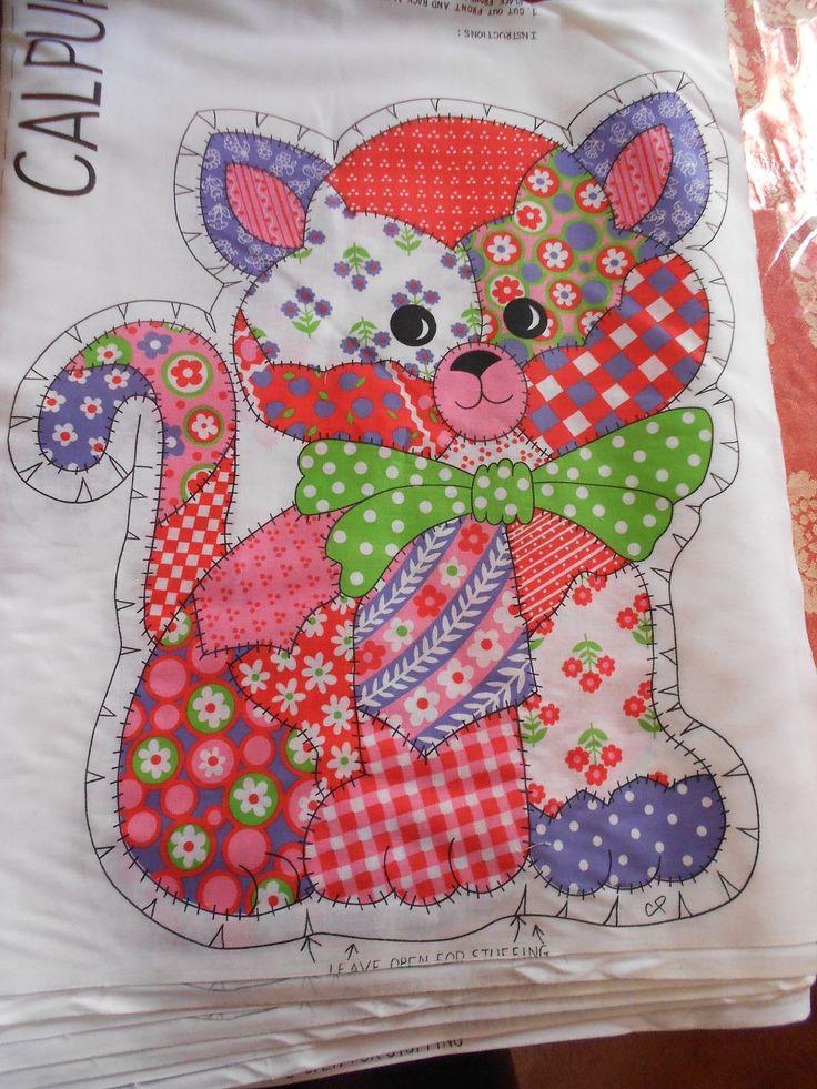 Toy Cat Fabric Calico Cat Quilt Fabric Calpurnia Cat DIY
