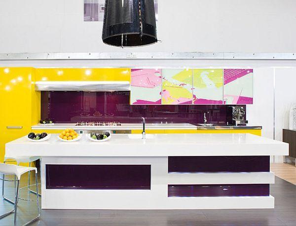 best 25 purple kitchen cabinets ideas on pinterest purple kitchen furniture purple kitchen and purple kitchen interior - Magenta Kitchen Design