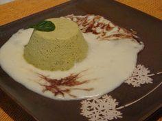 Flan di asparagi su fonduta di parmigiano