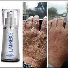 jeunesse Instantly Ageless + Serum Luminesce. Suas mãos mais jovem.. www.aliviojeunesse.com