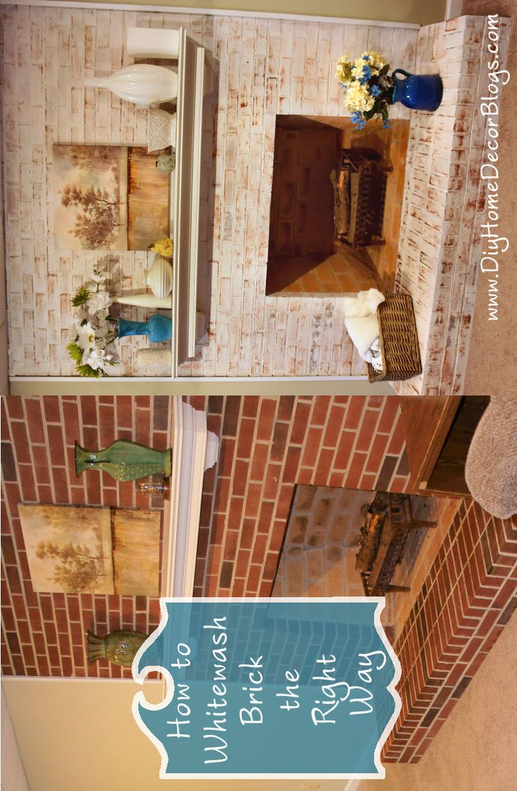 Whitewashed Brick Fireplaces Before And After Quotes Fireplaces Pinterest Whitewash Brick