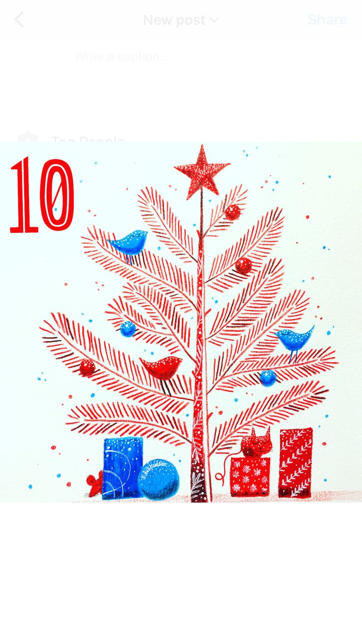 Christmas tree for the 12 days of Christmas with @the_portfolio_group by Debi Hudson