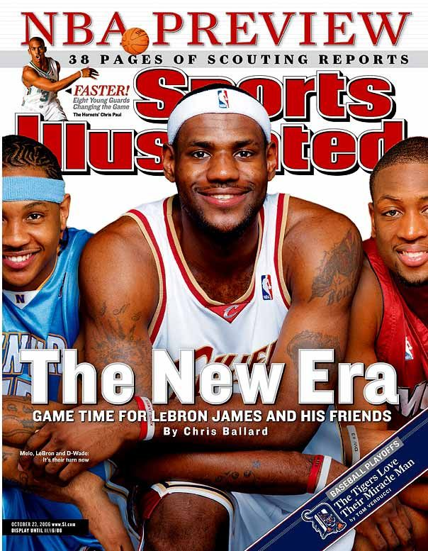 Carmelo Anthony (Denver Nuggets), Lebron James and Dwyane Wade - (Sports Illustrated)