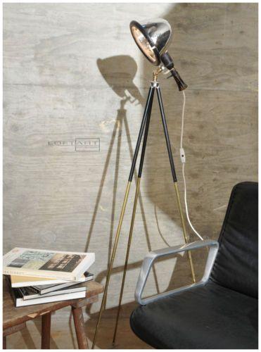 Tripod Lampe Art Deco Stativlampe Bauhaus Loft Vintage