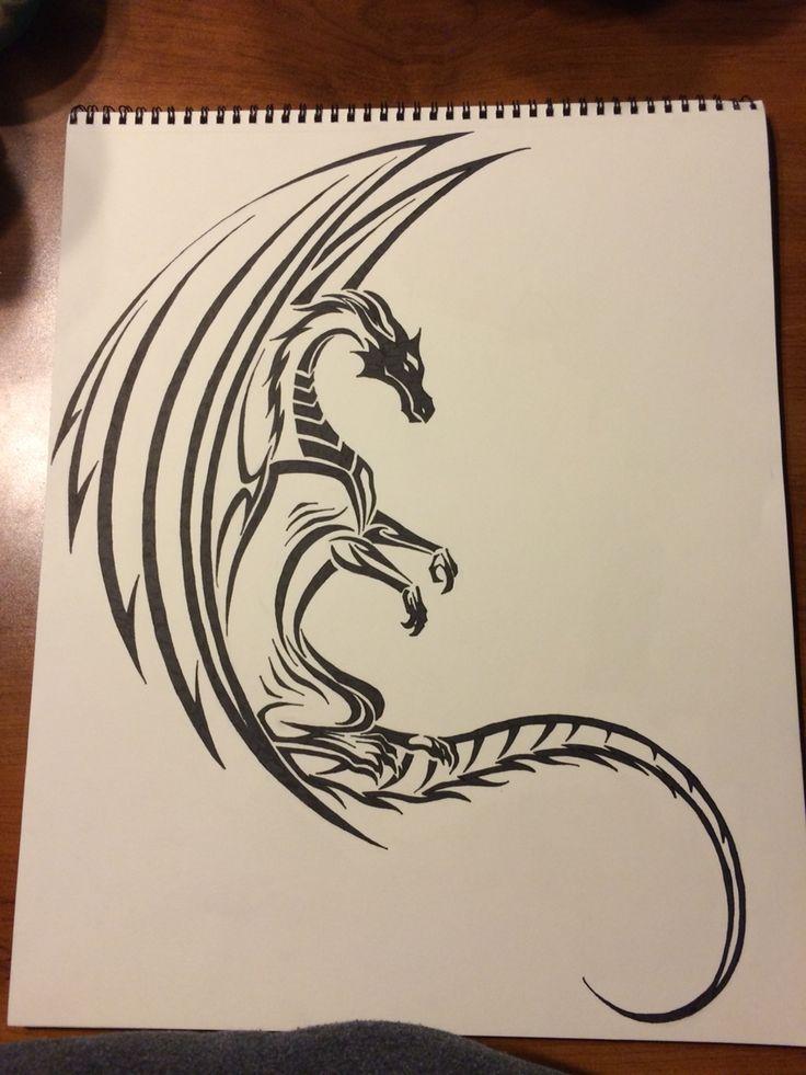 My tribal dragon X3