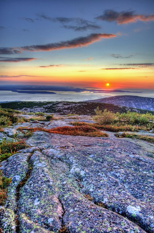 Cadillac Of Portland >> Sunrise at Cadillac Mountain ~ Acadia National Park, Maine....so beautiful.. a bucket list check ...