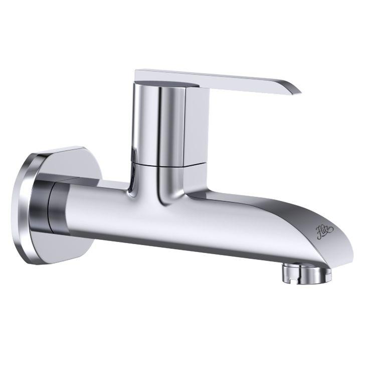 Product - Delma (1002 Long Body Bib Cock) Flitz - Designer Bath Fittings  are Gujarat, India based Manufacturers of C. P. Fitting, C. P. Bathroom, ...