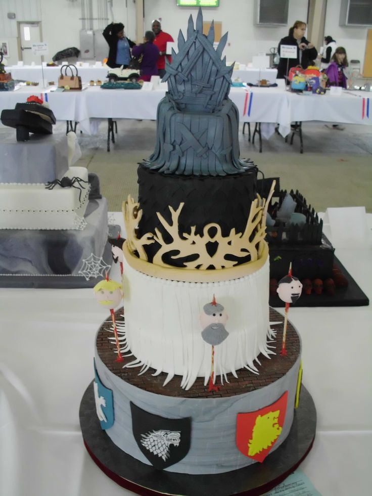Game of thrones cake for the 2013 Great American Cake Competition.  Everything edible.