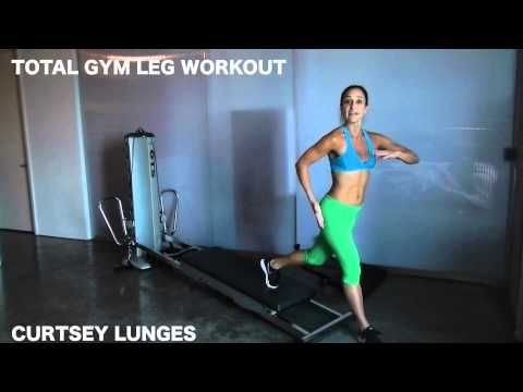 Lower Body Workouts on the Total Gym - leg burners from Maria Sollon, great workout for both men and women #totalgym #lowerbodyworkout