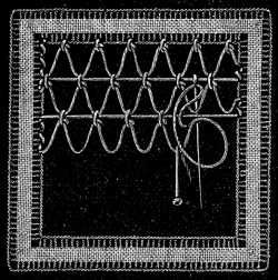 FIG. 750. THIRTY-FIRST LACE STITCH.