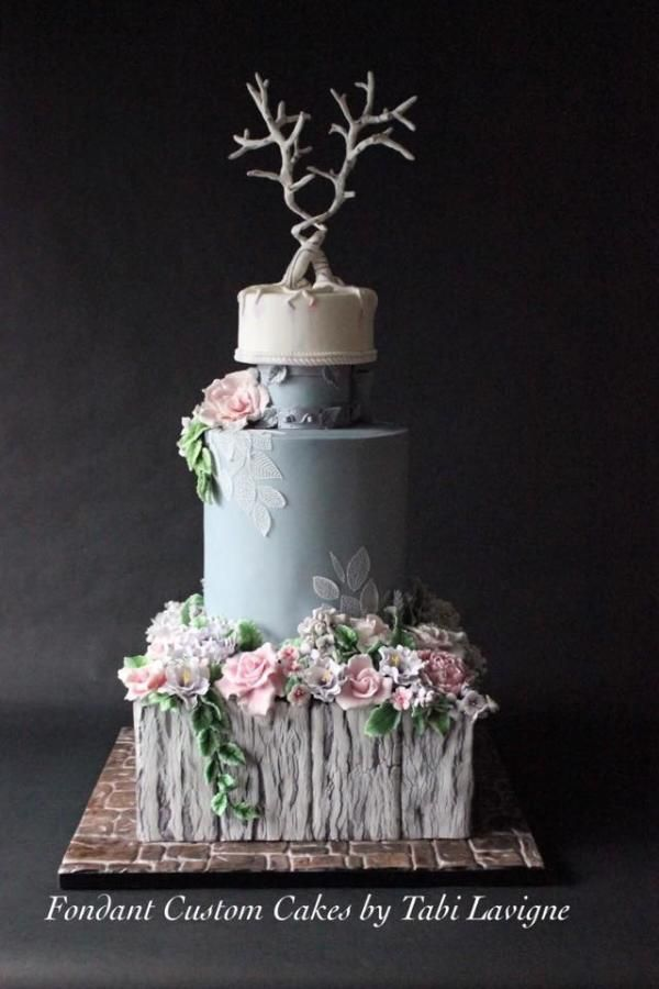 Wedding cake inspired by fashion theme for an icing smiles cake competition. Won peoples choice and tied for third
