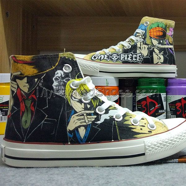 Anime One Piece Converse Chuck Taylor One Piece Converse All Sta Converse Shoes Womens Converse Custom Converse Shoes