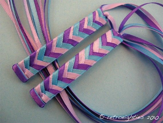 Ribbon Barrettes, @Erika Tiner I am pretty sure we made these together in the 80's.
