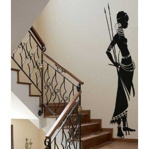 african wall art african tribes and africans on pinterest. Black Bedroom Furniture Sets. Home Design Ideas