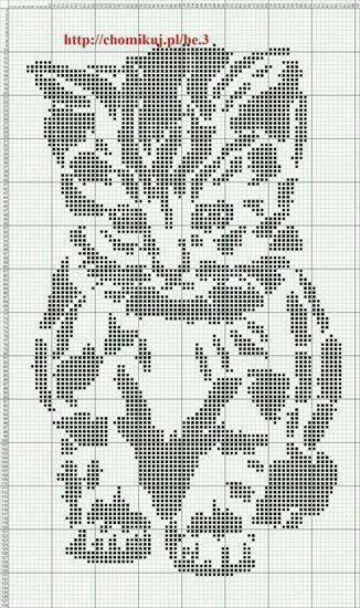 I think I will use this as a knitting chart - stocking stitch for the background and purl for the pattern (dots):