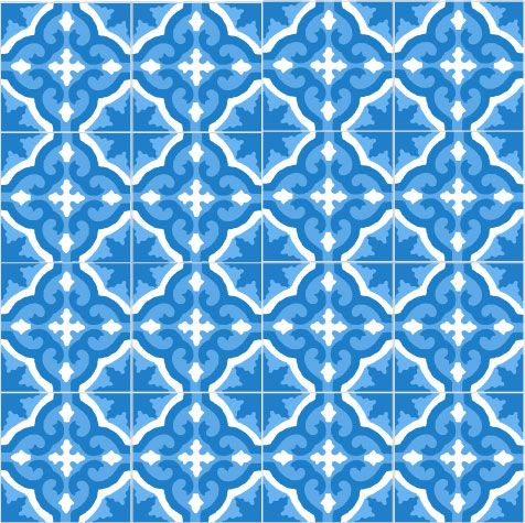 60 best purpura cement tiles patterns images on pinterest for Blue and white cement tile