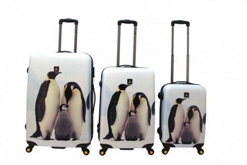 National Geographic Emperor Penguin S Walizki National Geographic to połączenie innowacyjnego wzornictwa, ultralekkiej i wytrzymałej konstrukcji (poliwęglan ABS) z bardzo praktycznymi detalami istotnie podnoszącymi użyteczność i ergonomię walizki.