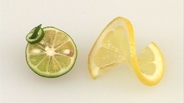 すだち・レモンの飾り切り