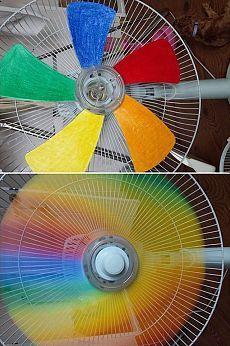 Превратите обычный вентилятор в радужный