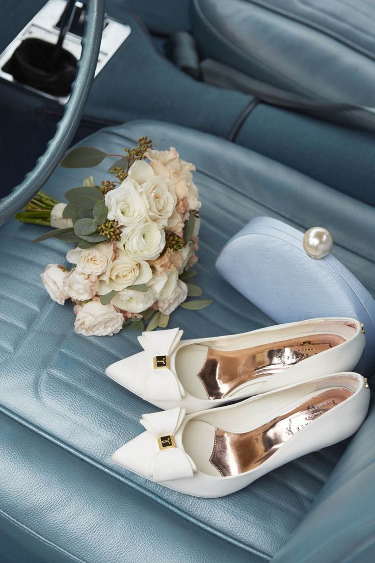 Shoes for the big day 👰🏼. #WedWithTed