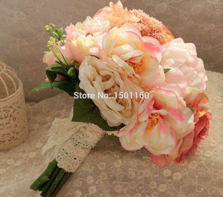 >> Click to Buy << 2016 Beautiful Artificial Wedding Flowers Bridal Bouquets Brooch Wedding Accessories Ramos De Flores Artificiales De La Boda #Affiliate