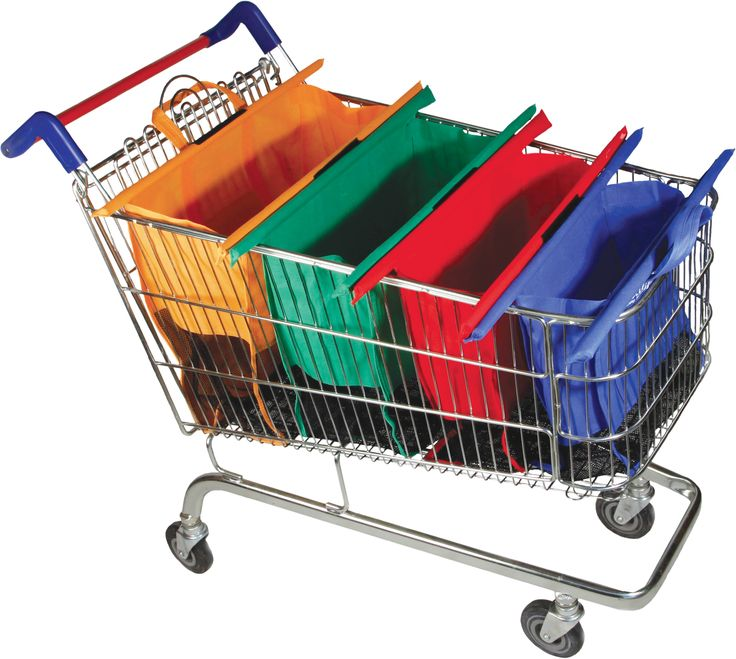 Trolley Bags reusable and collapsable shopping bags